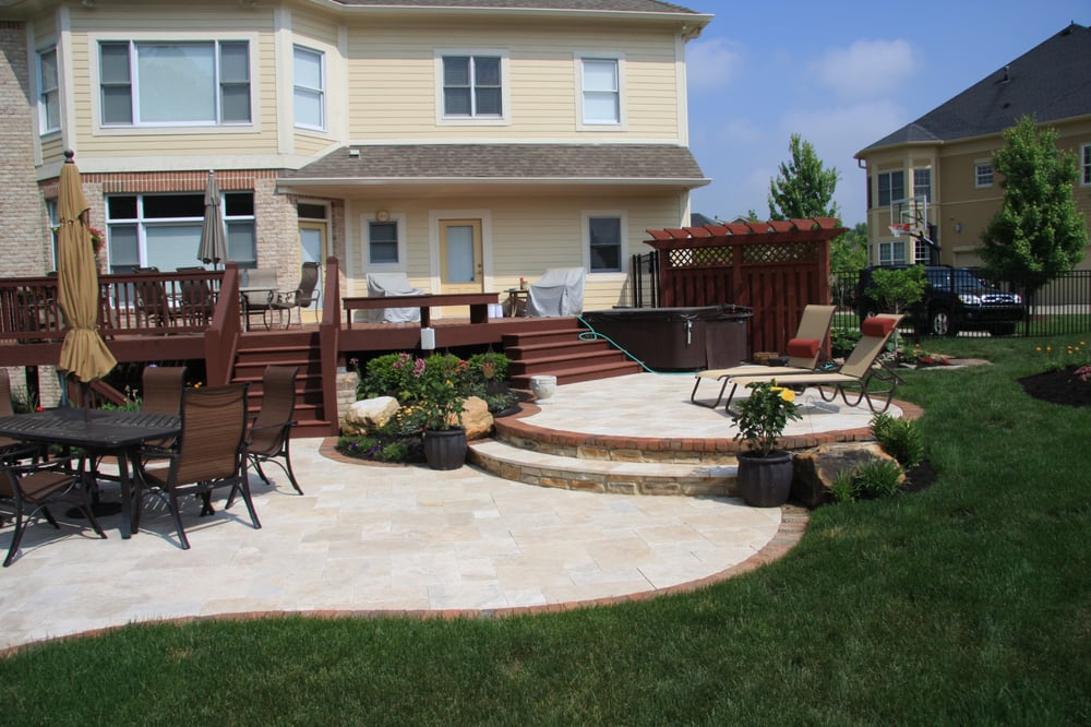 Photo Of Pro Care Horticultural Services   Carmel, IN, United States.  Travertine Stone