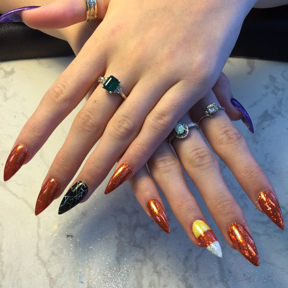 Gel dip powder with nail extension. Better alternative to damaging ...