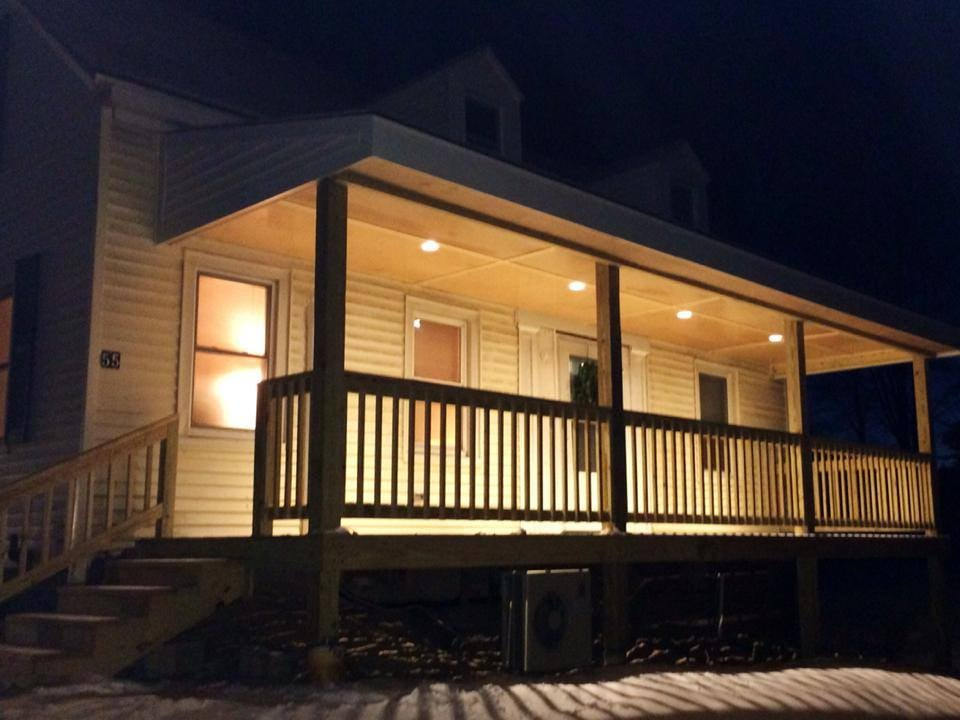 Photo of Baldridge Electric - Standish ME United States. Exterior LED recessed porch & Exterior LED recessed porch lights in Westbrook - Yelp