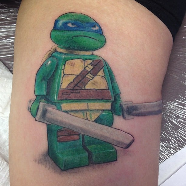Tennage mutant ninja turtle lego tattoo yelp for Ageless arts tattoo