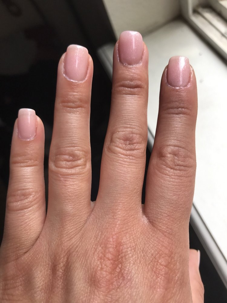 Polish all over skin around nail. Nails were filed crooked. Now $34 ...