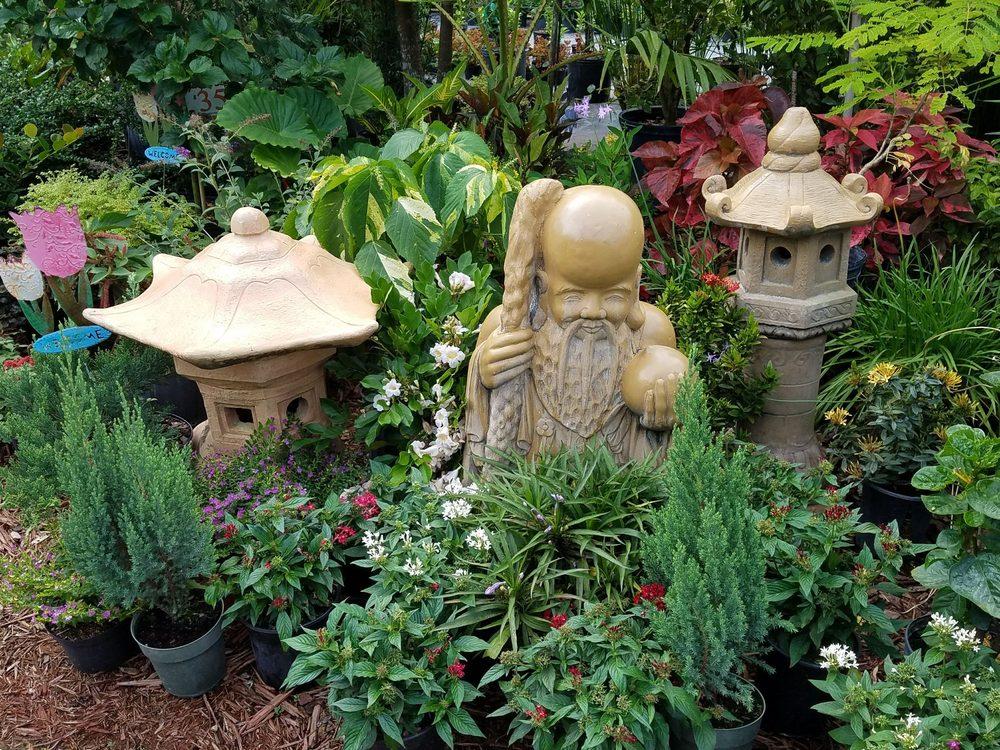 Photo Of Georgieu0027s Paradise   Miami, FL, United States. Beautiful  Vegetation And Statues