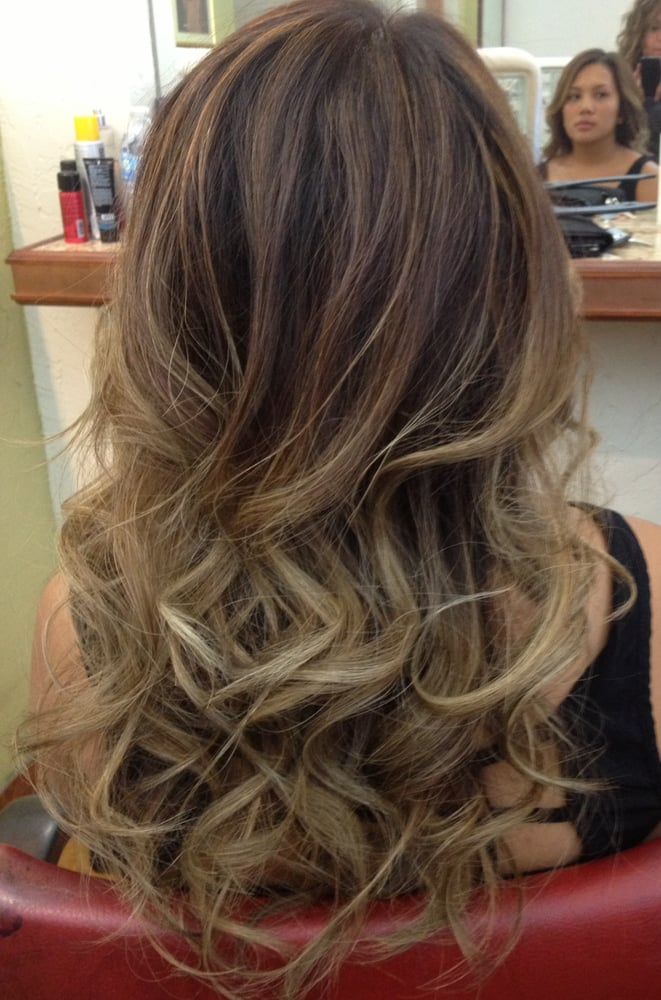 Soft Brown Low Lights Added Into Platinum Ombre Yelp
