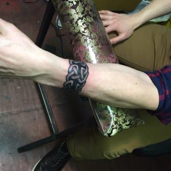 Photo Of Fineline Tattoo New York Ny United States Celtic Wristband By
