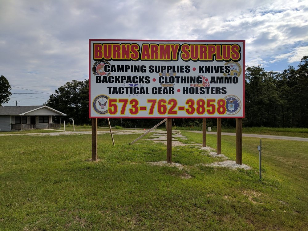 Burns Army Surplus: 363 Doolittle Outer Rd, Rolla, MO