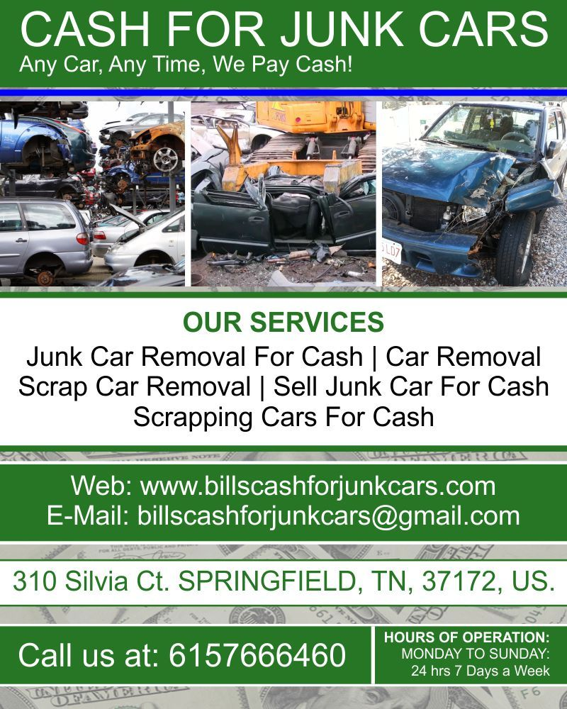 Cash For Junk Cars - Junk Removal & Hauling - Springfield, TN ...