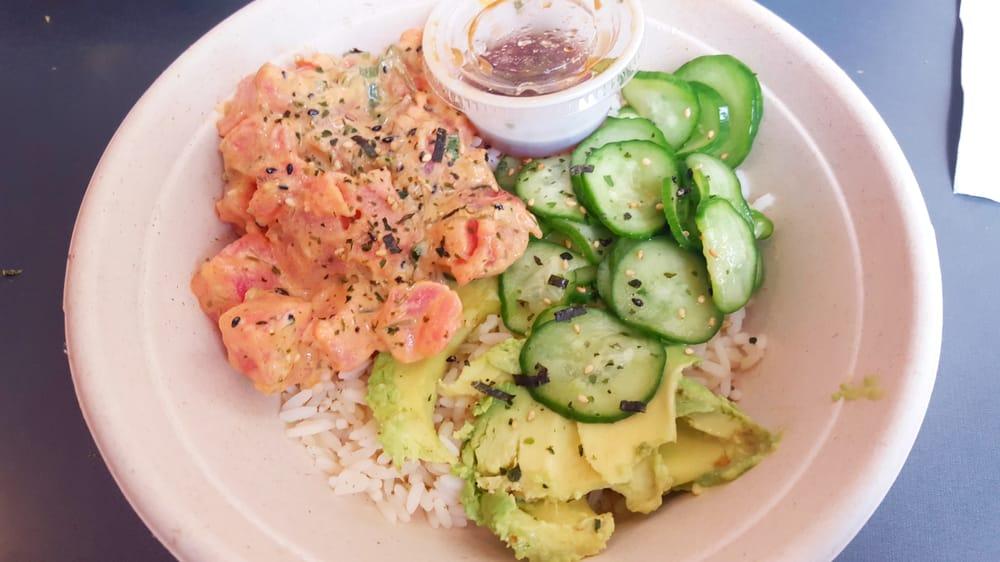 Spicy ahi poke yelp for Fish me poke menu