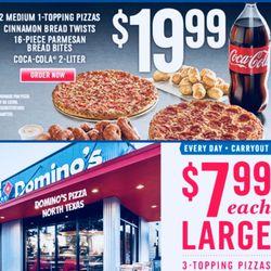 Domino S Pizza Pizza 2301 N Loy Lake Rd Sherman Tx