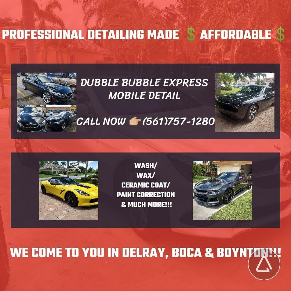 Dubble Bubble Express Mobile Detail: DelRay Beach, FL