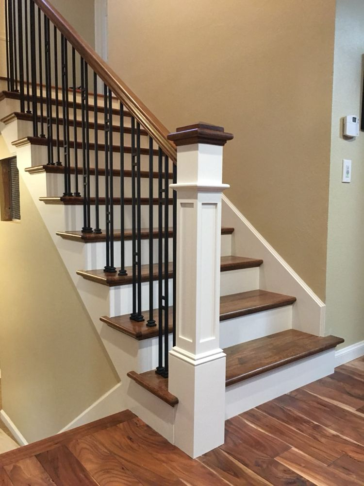 """Interior Ladder Stair Design: Beautiful Updated New Staircase. 6 1/2"""" Painted Paint With"""