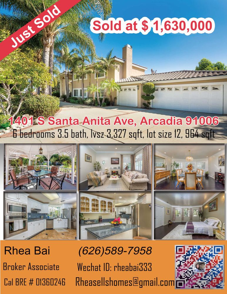 Rhea Bai: 223 N 1st Ave, Arcadia, CA