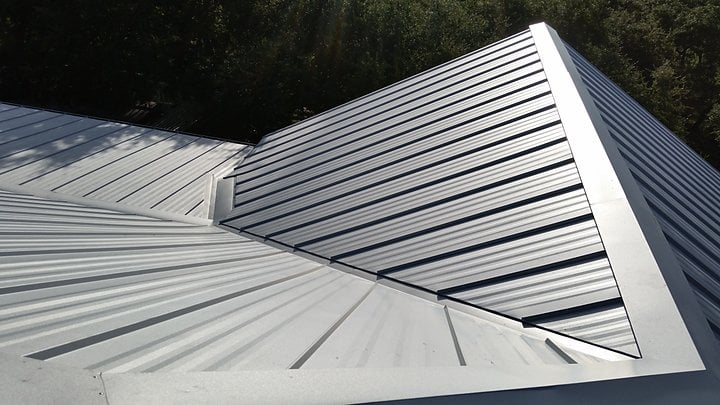 A Galvalume Colored Metal Roof Is Strong Functional