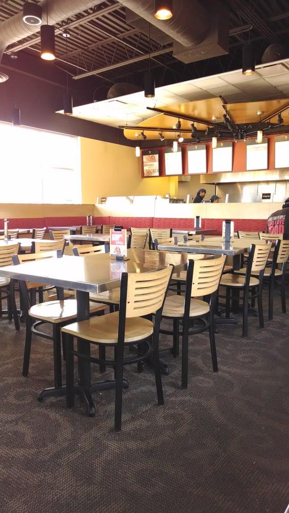 Qdoba S Dining Room On A Sunday Yelp