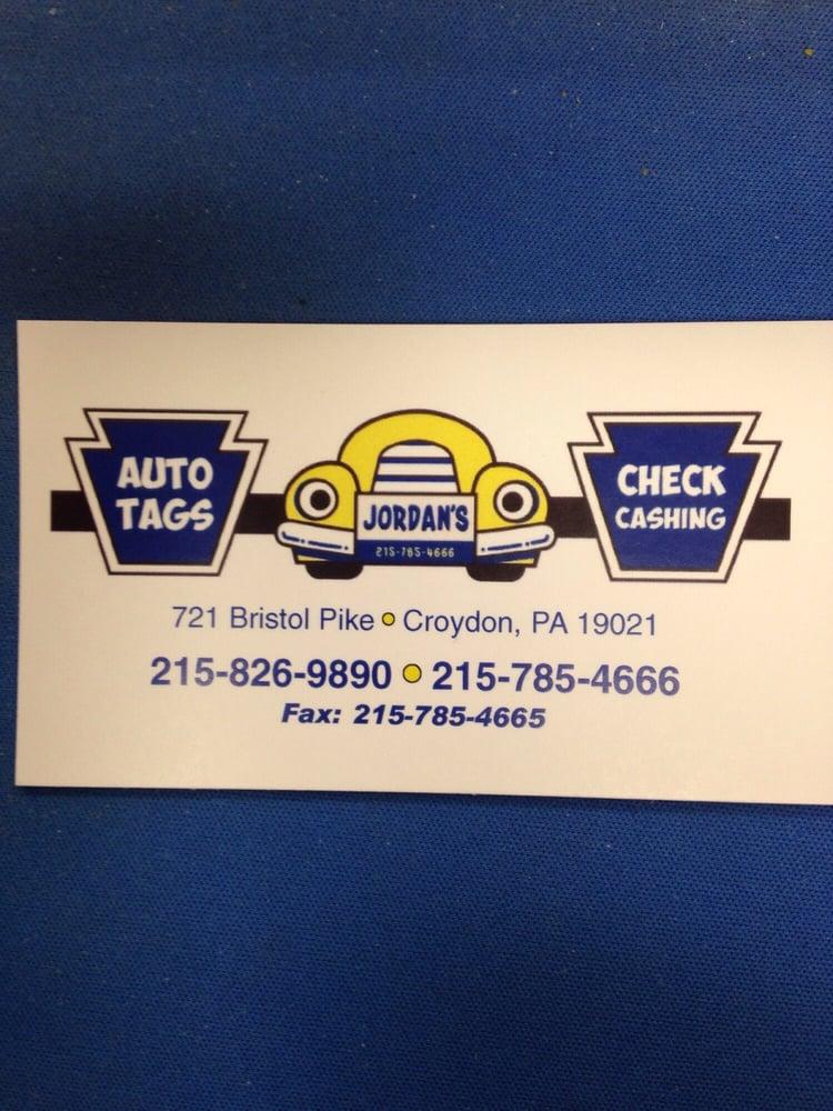 Jordan's Auto Tags & Check Cashing