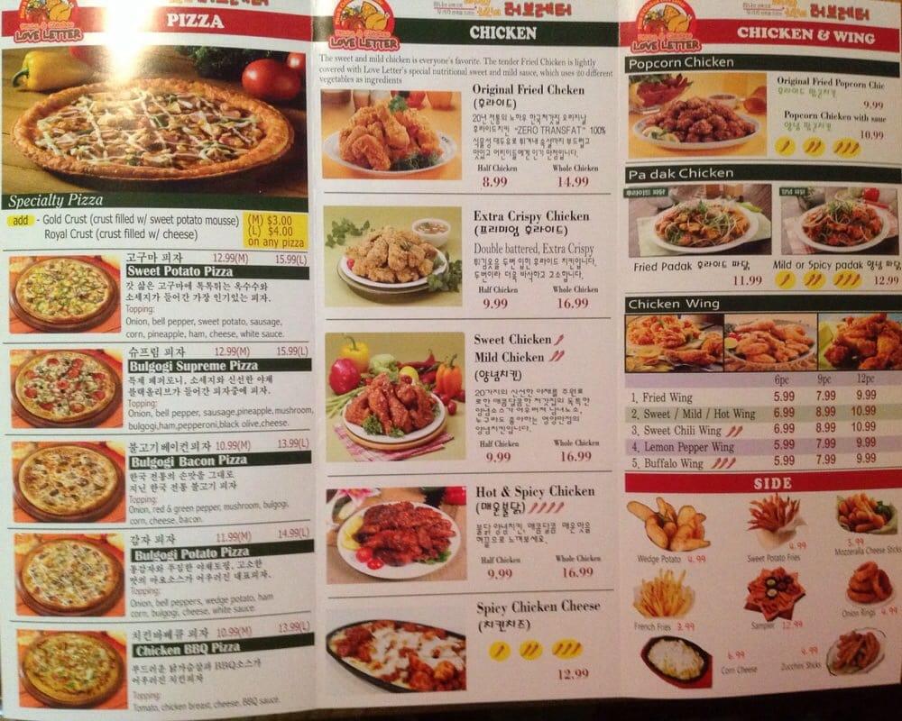 Love Letter Pizza & Chicken - 468 Fotos - Koreanisches Restaurant ...