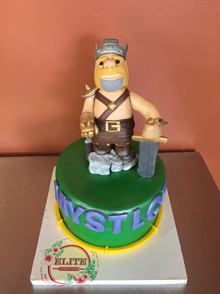 ... Barbarian king, clash of clans cake for up and coming YouTube