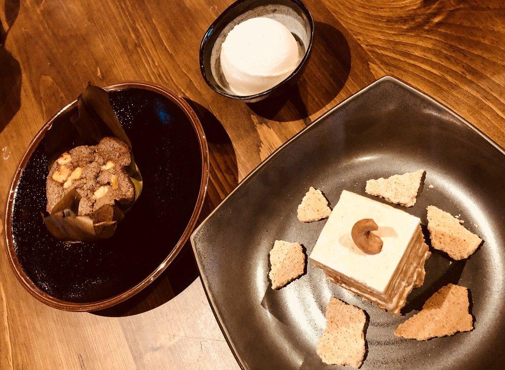 Filipino Desserts: Bibingka w/ coconut ice cream + Sans Rival - Yelp