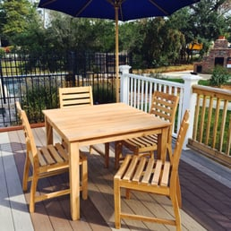 Photo Of The Teak Hut   Mount Pleasant, SC, United States. Custom Built.  Custom Built Table With Capri Side Dining Chairs