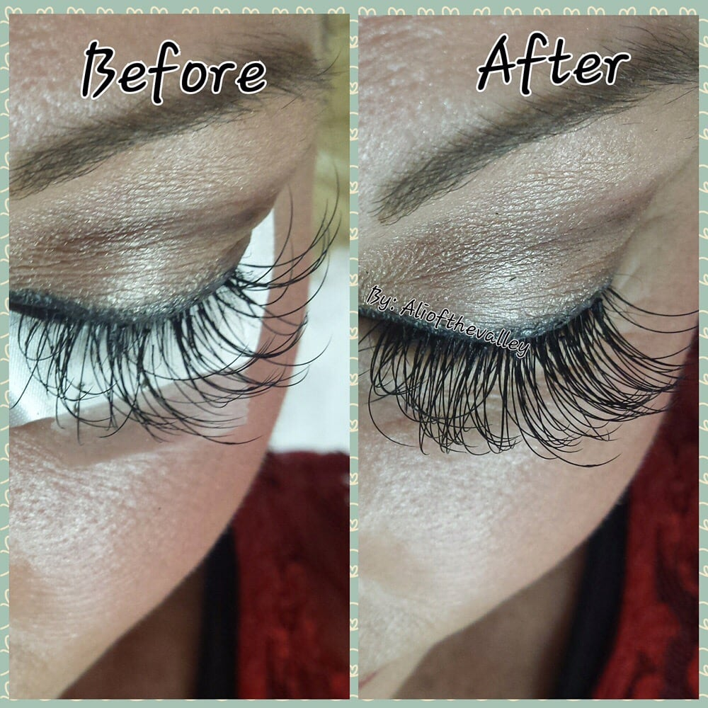 Before After Eyelash Extension Fill And Its Always A 2 Week Fill