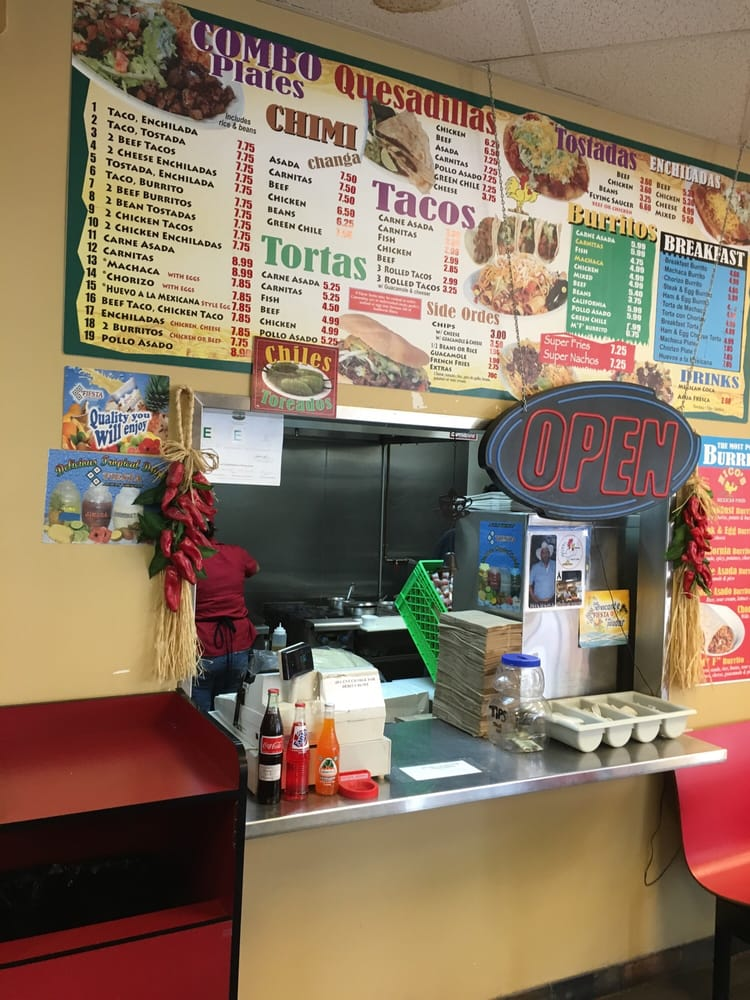 Menu Of Nicos Mexican Food Restaurant