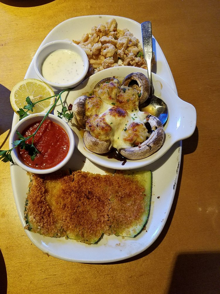 Appetizer sampler i would only order calamari next time yelp for Olive garden manhattan beach ca