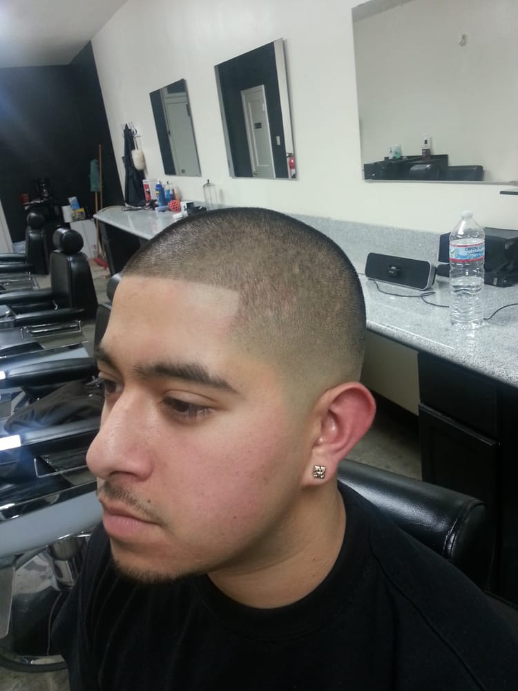 haircut shaver numbers bald fade with a number 1 on top and a razor edge up yelp 6301