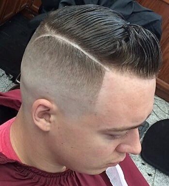 b over skin fade with hard part youtube skin fade with