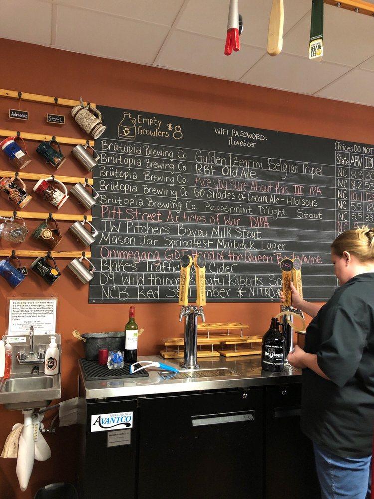 Brutopia Beer: 1201 US Hwy 70 E, New Bern, NC