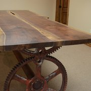 We Begin With Photo Of Natural Edge Furniture Bend Or United States Black Walnut Conference