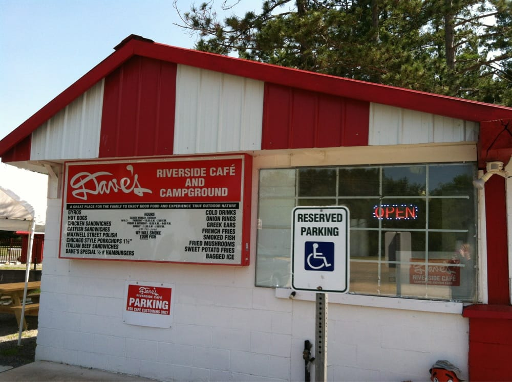 Dave's Riverside Cafe: 1435 E 8th St, Baldwin, MI