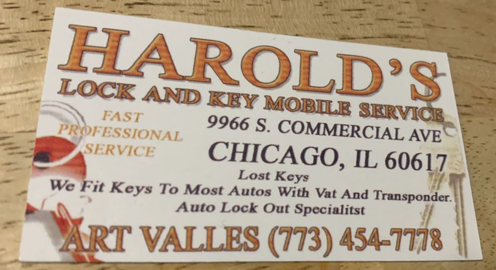 Harold's Lock & Key Service