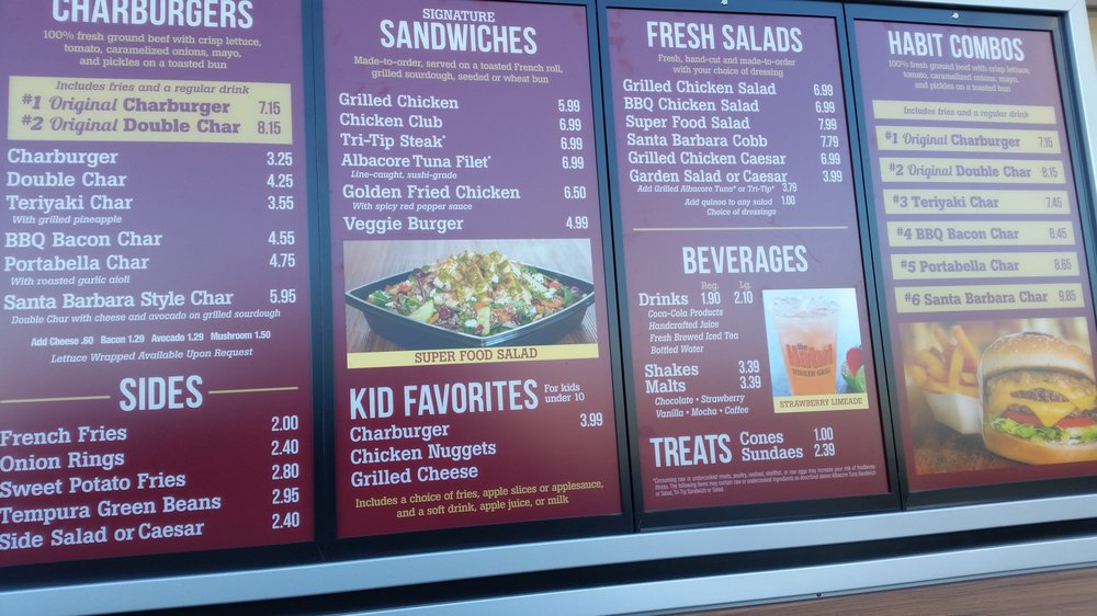 Menu With Prices In The Drive Thru As Of 1 21 17 Yelp