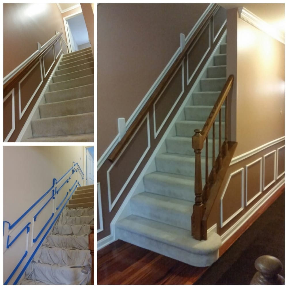 Before And After- Stairway And Hallway Multi Color