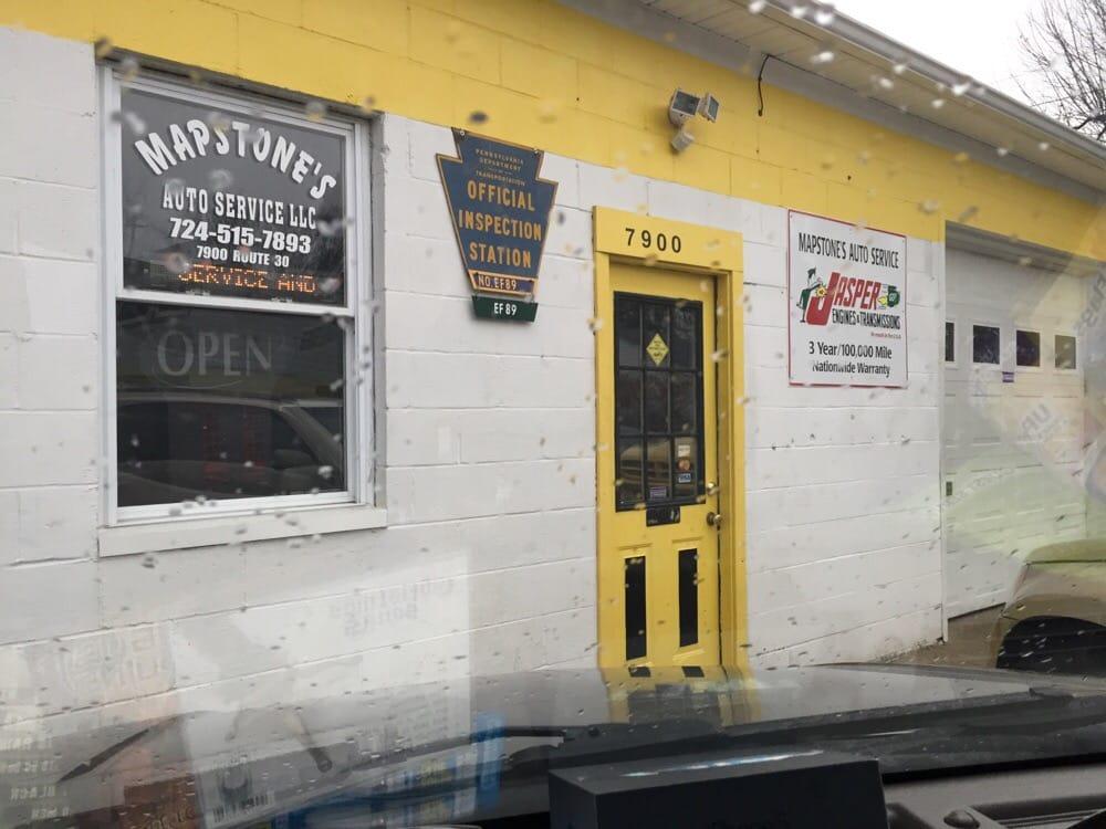 Mapstones Auto Service: 7900 Rt 30, Irwin, PA