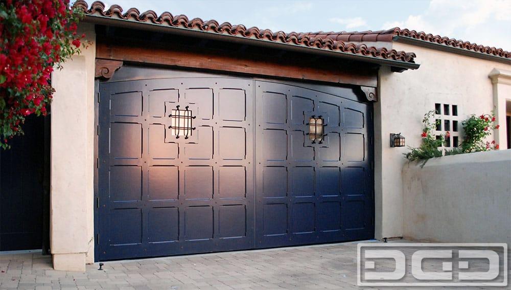 Real carriage doors that swing out for garage converted for Man door in garage door