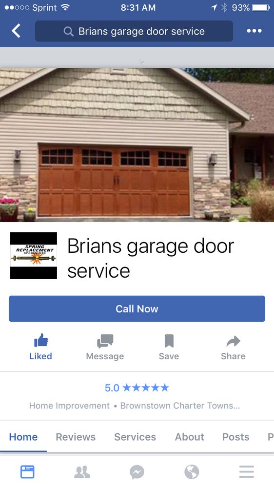 Elegant Brians Garage Door Service Garage Door Services Cascade Downriver Brownstown Charter Township MI Phone Number Yelp Model - Awesome garage door reviews New