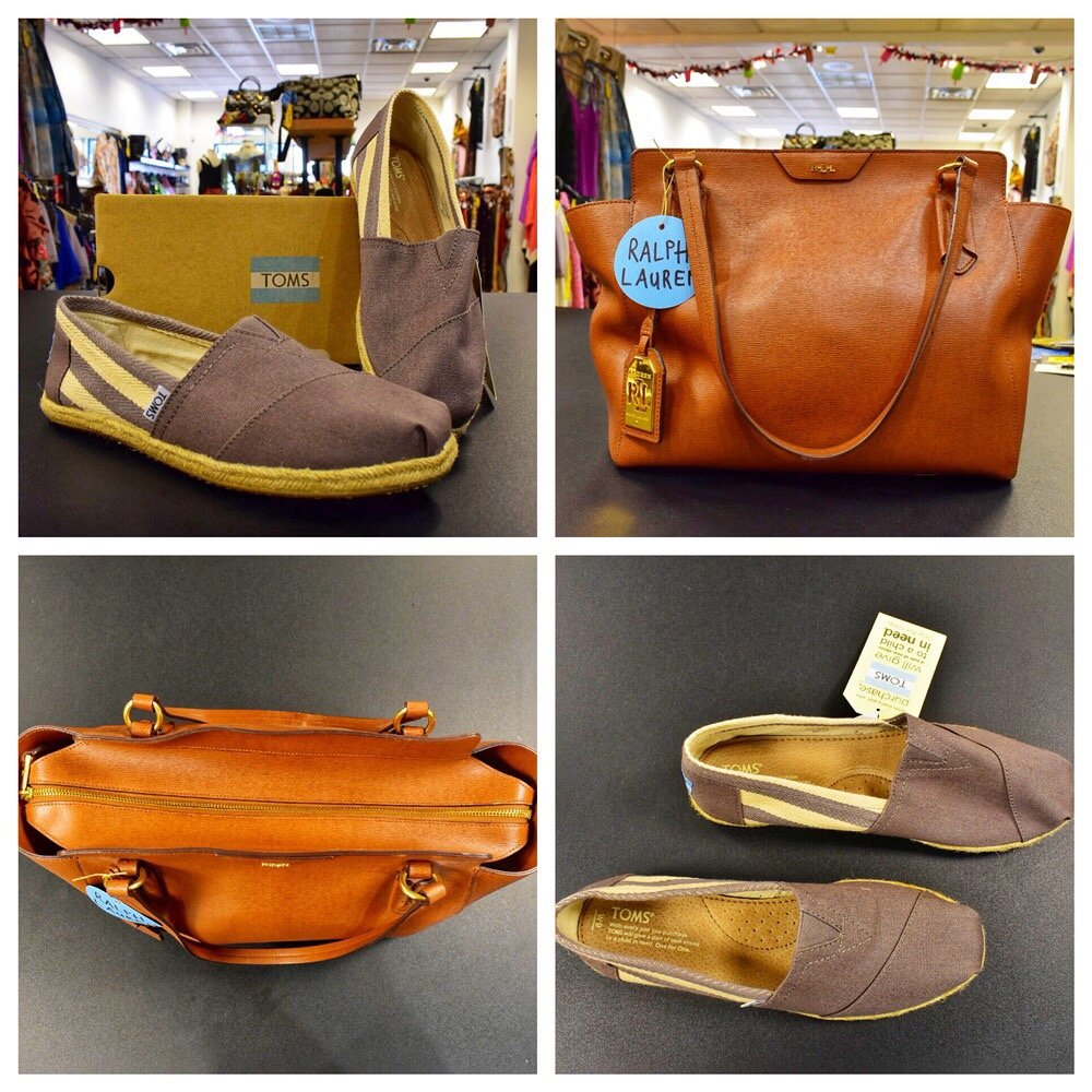 ca53c0b5e841d Ralph Lauren LEATHER BAGS. Toms shoes. BRAND NEW. - Yelp
