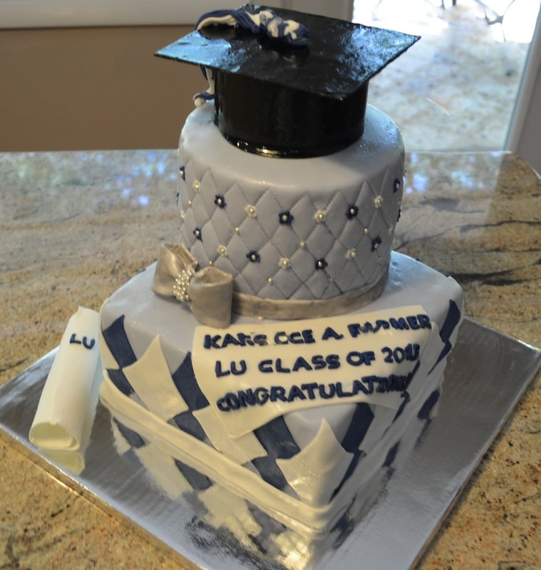Photo Of Fabscakes Arlington Va United States Two Tiered Graduation Cake