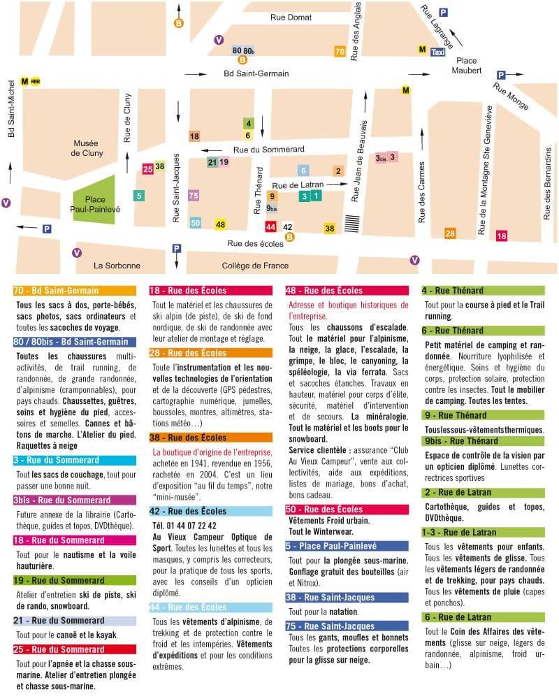 Au vieux campeur 40 beitr ge outdoor 48 rue des ecoles sorbonne panth on paris - 48 rue des ecoles 75005 paris ...