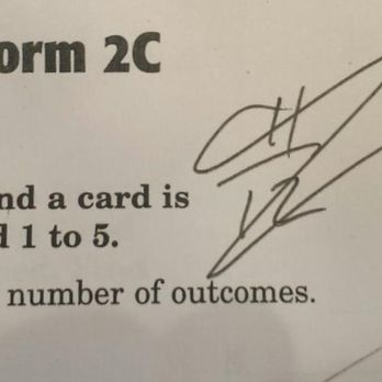 7th Grade Math Student's Test  She not only earned a perfect score