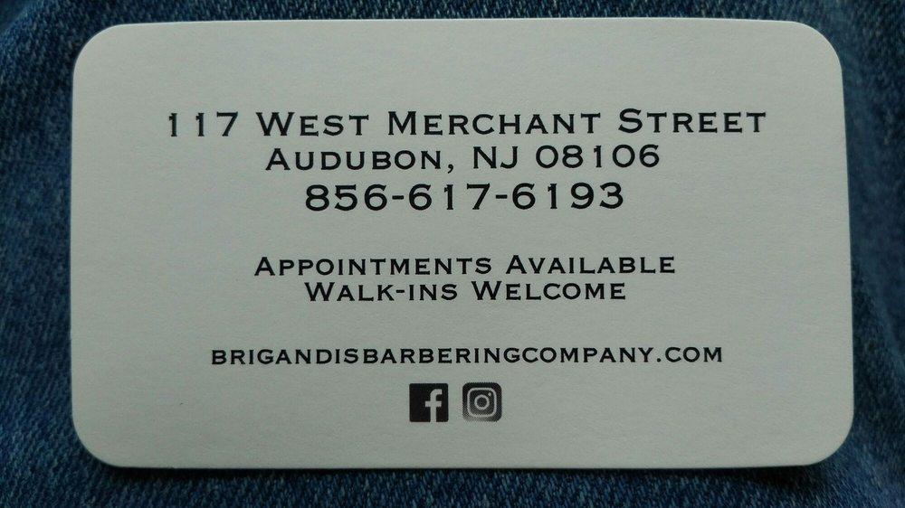 Brigandi's Barbering Company: 117 West Merchant St, Audubon, NJ