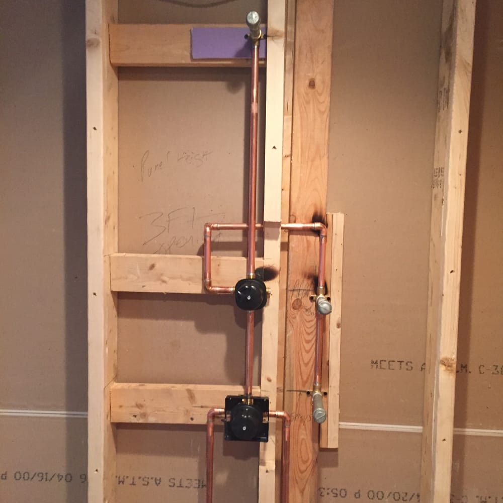 Rough-In for custom shower valve,six way diverter with two body ...