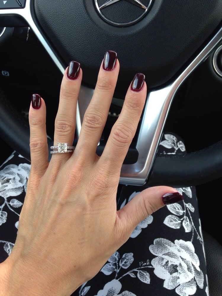 A very thin layer of acrylic over my natural nail and shellac polish ...
