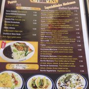 Menu1 Photo Of Chapin Guatemalan Mexican Restaurant Princeton Nj United States Menu3