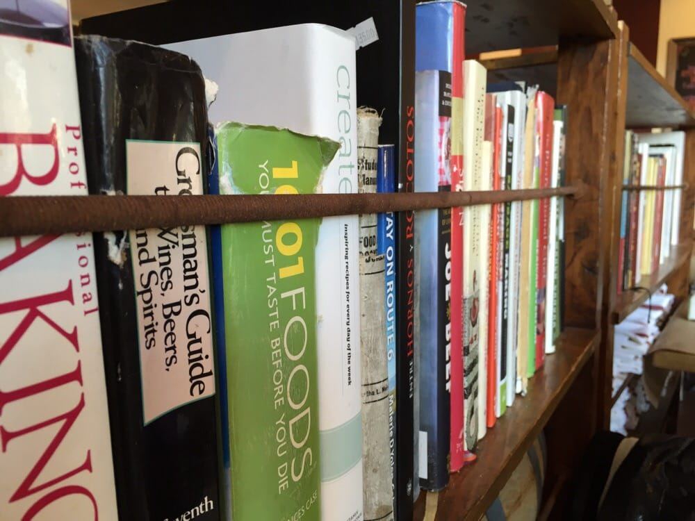 Cookbooks on display as decor love it yelp for 707 foodbar grand junction