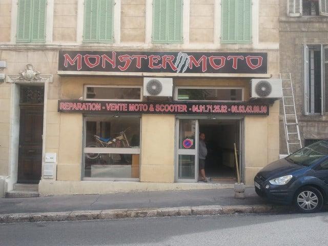 Garage monster moto endoume riparazione moto 165 rue d for Garage moto marseille
