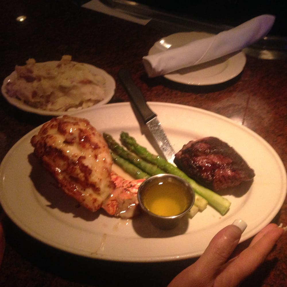 filet mignon & grilled caribbean lobster tail with mashed red