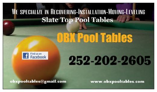 OBX Pool Tables Pool Billiards Elizabeth City NC Phone - Leveling pool table slate