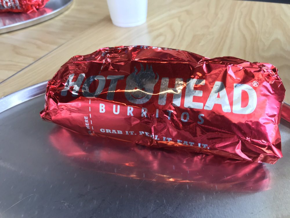 Food from Hot Head Burritos