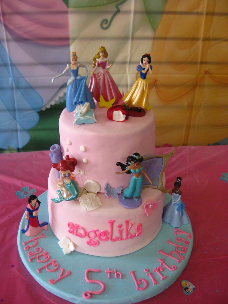 Disney Princesses Fondant Birthday Cake Yelp
